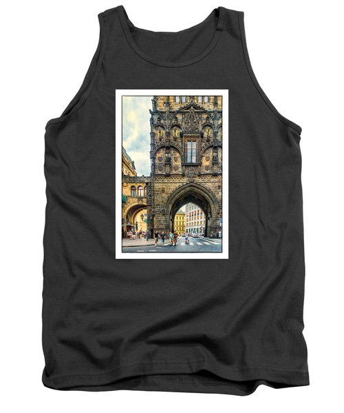 Prague Powder Tower  Tank Top by Janis Knight