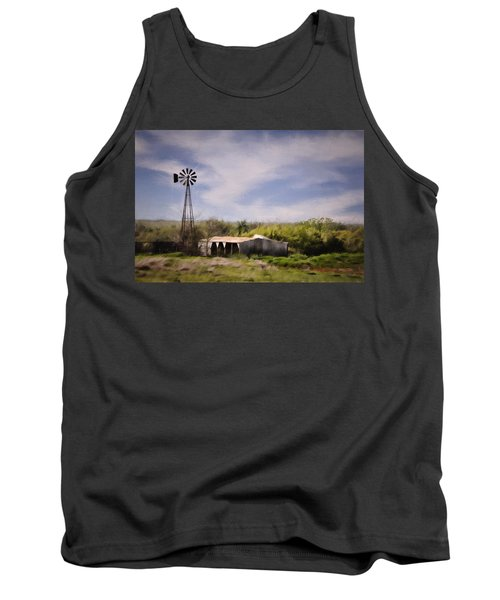 Tank Top featuring the photograph Prairie Farm by Lana Trussell