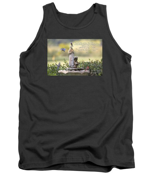 Prayer For The Animals That Bless Our Lives Tank Top by Bonnie Barry