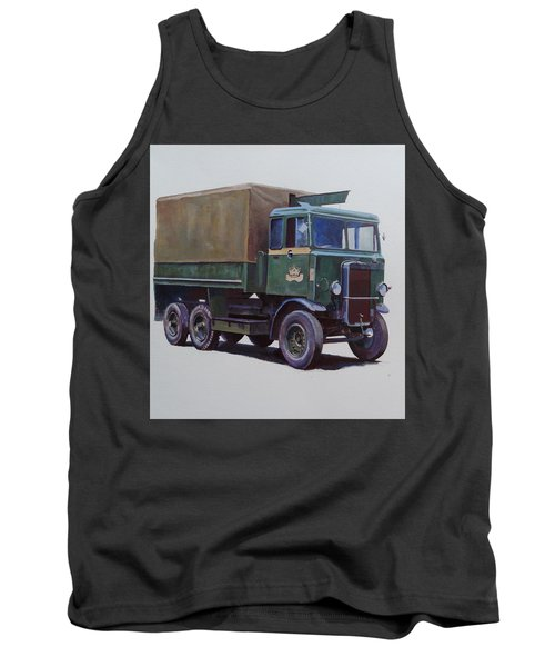 Tank Top featuring the painting Pre-war Leyland Wrecker. by Mike Jeffries