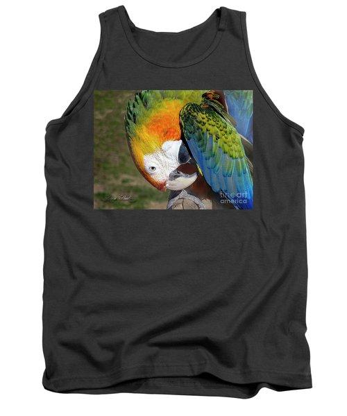 Preening Macaw Tank Top