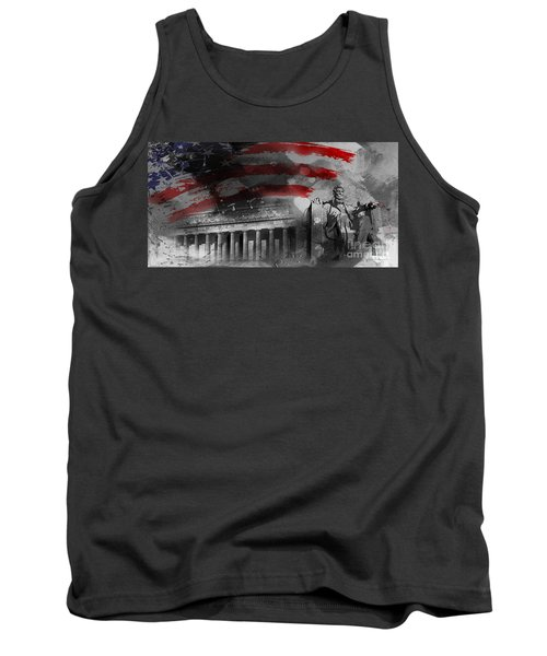Tank Top featuring the painting President Lincoln  by Gull G