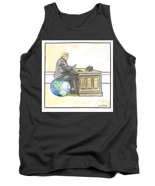 President Trump In The Seat Of Power Tank Top