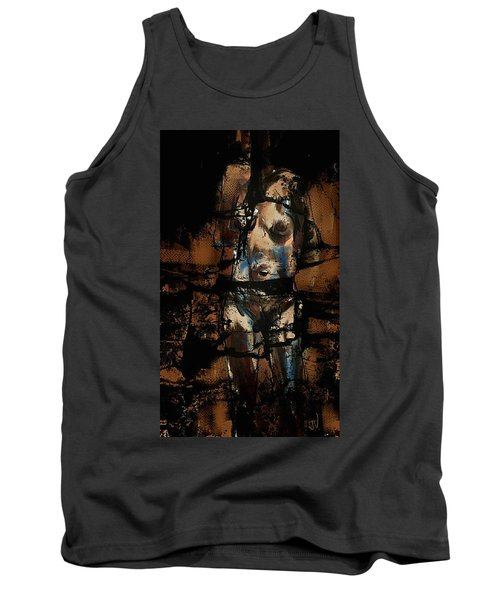 Tank Top featuring the painting Pressure Cracked by Jim Vance