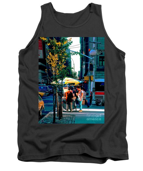 Hot Dog Stand Nyc Late Afternoon Ik Tank Top