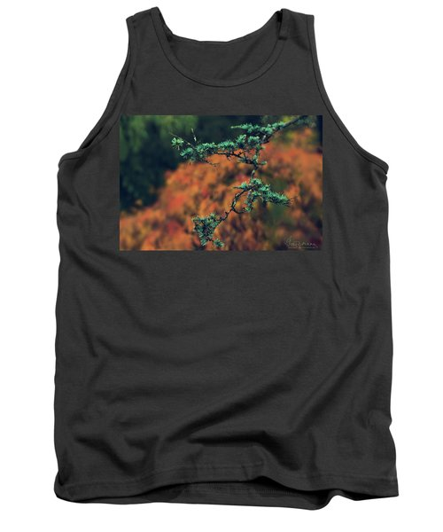 Prickly Green Tank Top