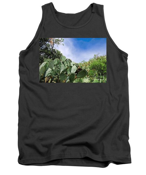 Tank Top featuring the photograph Prickly Pear Hillside by Gina Savage