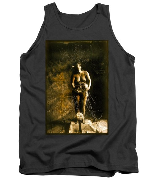 Primitive Woman Holding Mask Tank Top
