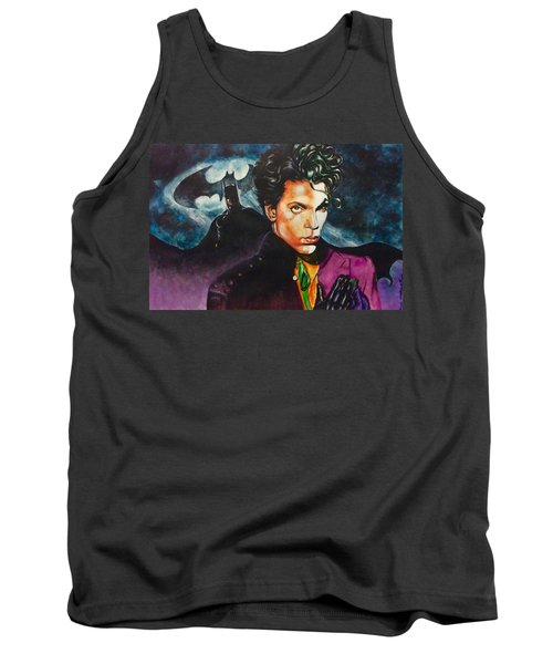 Tank Top featuring the painting  Prince Batdance by Darryl Matthews