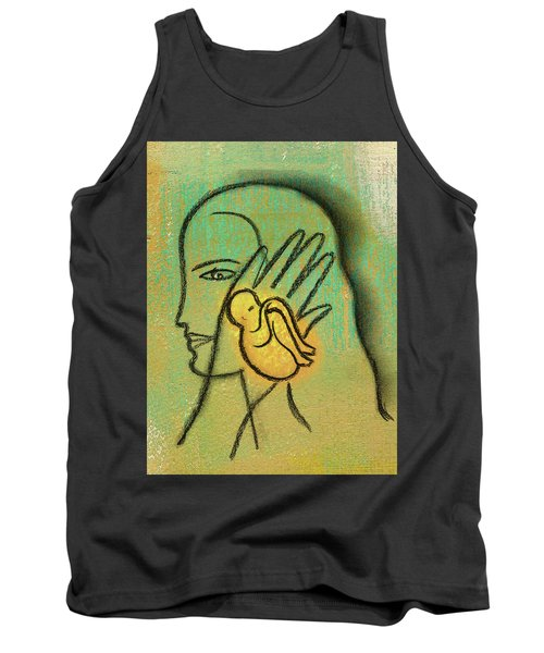 Tank Top featuring the painting Pro Abortion Or Pro Choice? by Leon Zernitsky