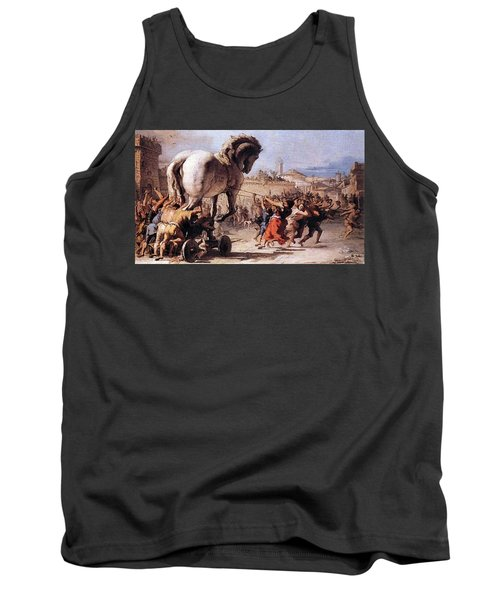 Procession Of The Trojan Horse  Tank Top