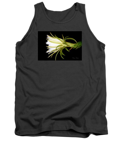 Profile Night Blooming Cereus Tank Top by Barbara Chichester