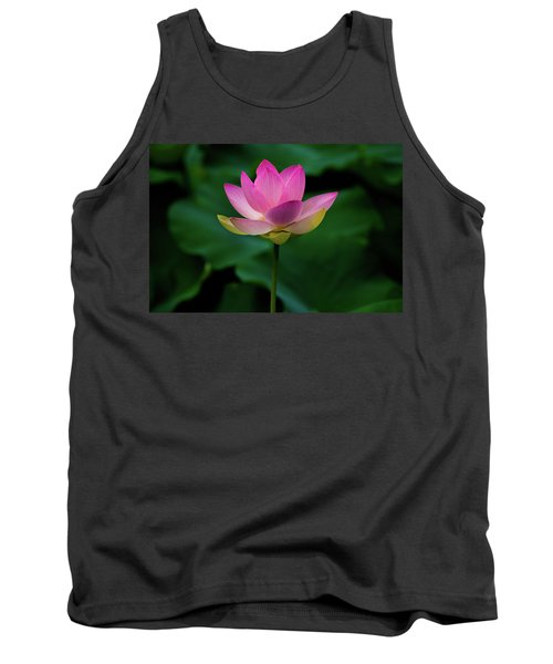 Profile Of A Lotus Lily Tank Top
