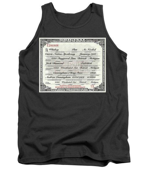 Prohibition Prescription Certificate Carrie Nation Speakeasy Tank Top
