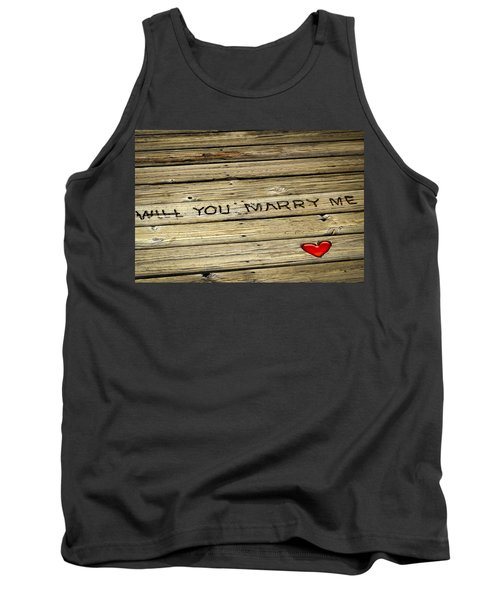 Propose To Me Tank Top by Carolyn Marshall