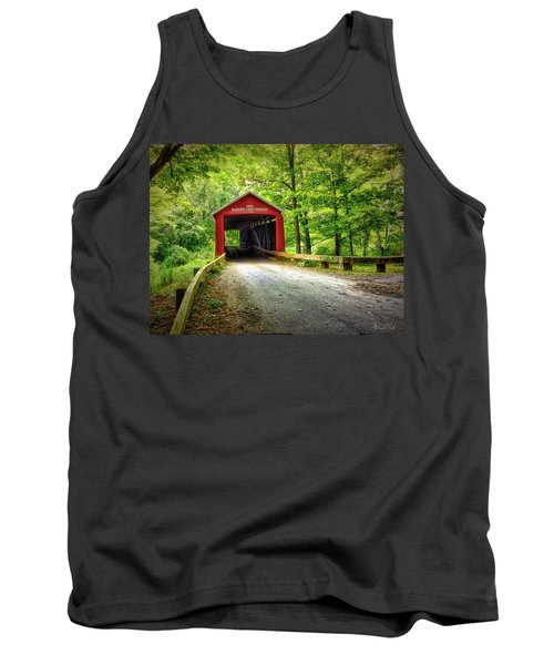 Protected Crossing In Summer Tank Top