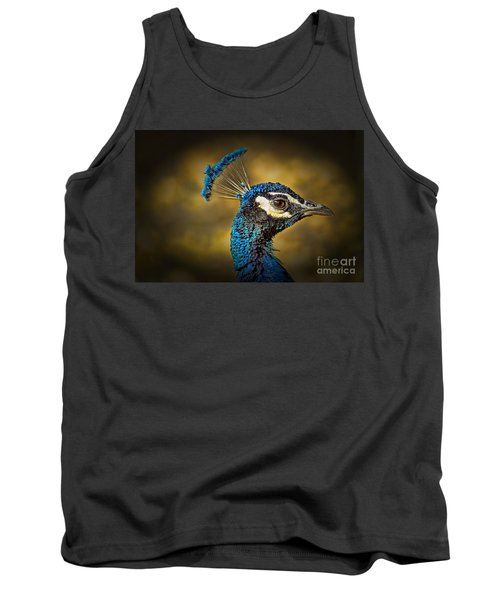 Proud As A Peacock Tank Top by Steven Parker