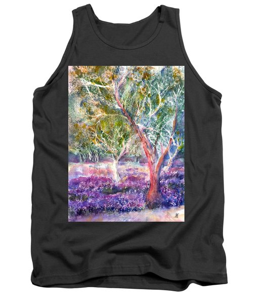 Provence Lavender And Olive Trees Tank Top