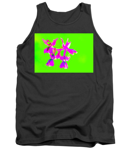Green Provence Orchid  Tank Top by Richard Patmore