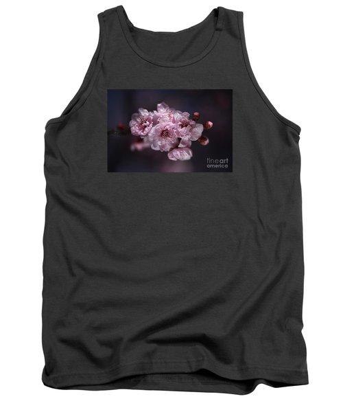 Prunus A Pink Spring Tank Top by Joy Watson