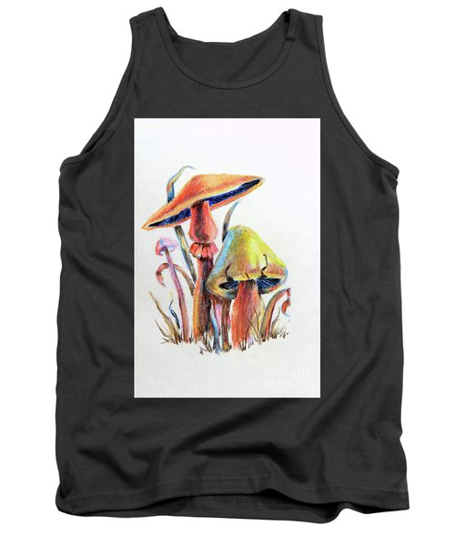 Psychedelic Mushrooms Tank Top by Pattie Calfy
