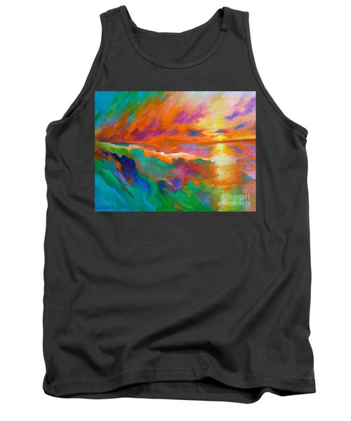 Tank Top featuring the painting Psychedelic Sea by Alison Caltrider