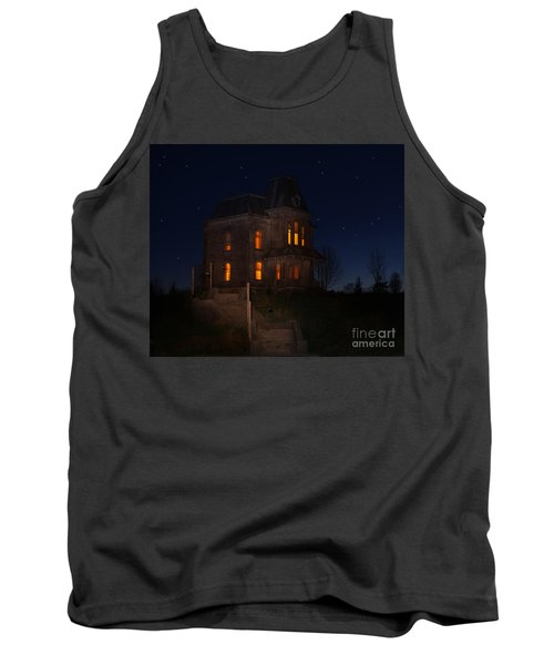 Psycho House-bates Motel Tank Top by Jim  Hatch