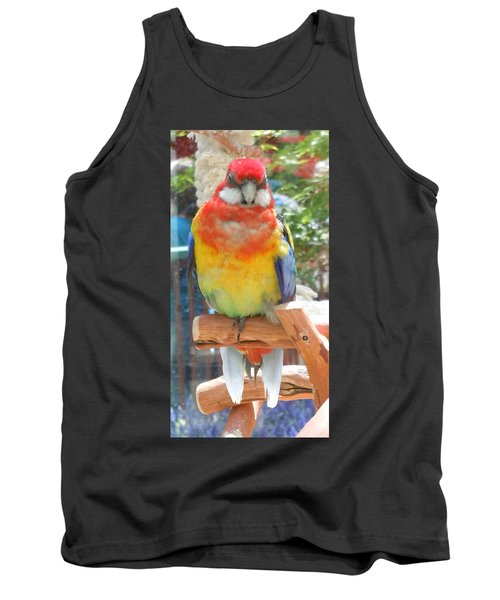 Multi-color Pudgy Budgie Tank Top
