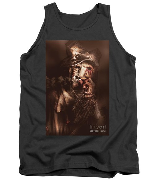 Puffing Billy The Smoking Scarecrow Tank Top