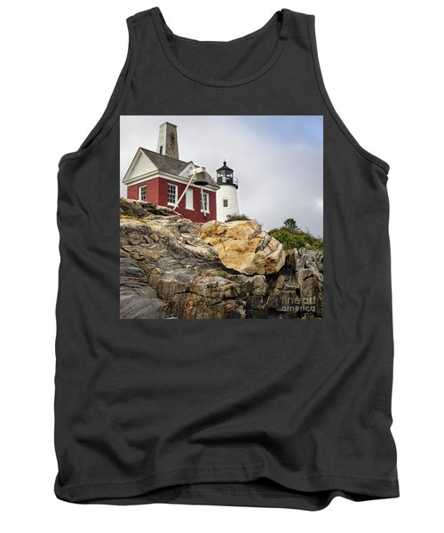 Pumphouse And Tower, Pemaquid Light, Bristol, Maine  -18958 Tank Top by John Bald
