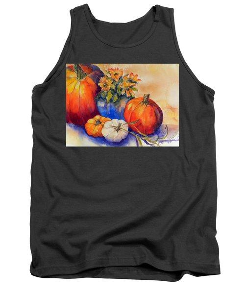Pumpkins And Blue Vase Tank Top