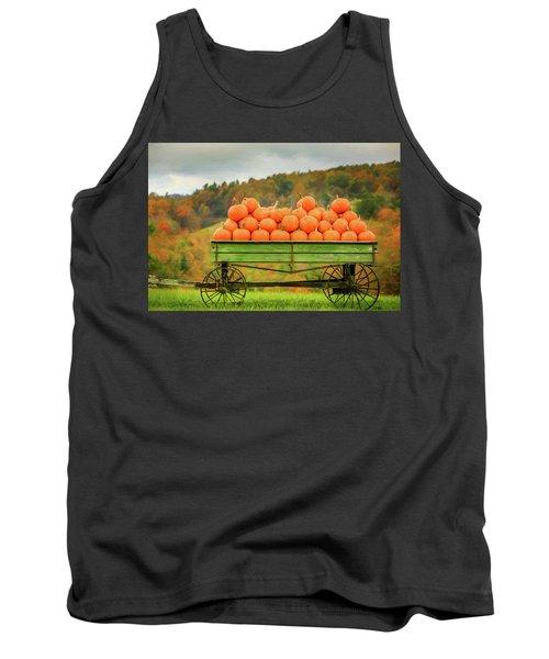 Pumpkins On A Wagon Tank Top
