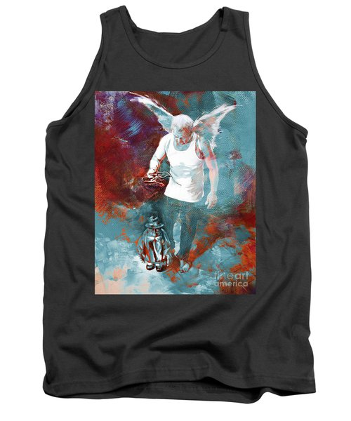 Tank Top featuring the painting Puppet Man 003 by Gull G