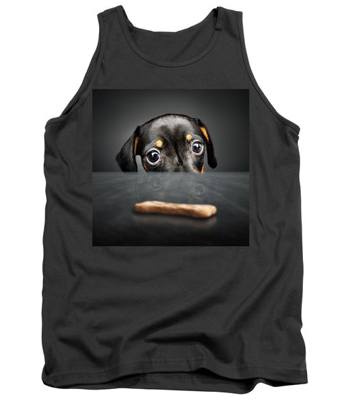Puppy Longing For A Treat Tank Top by Johan Swanepoel