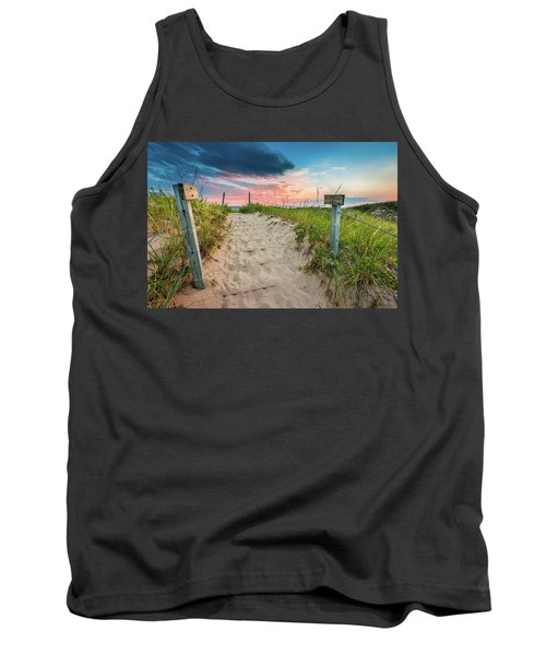 Tank Top featuring the photograph Pure Michigan Sunset by Sebastian Musial