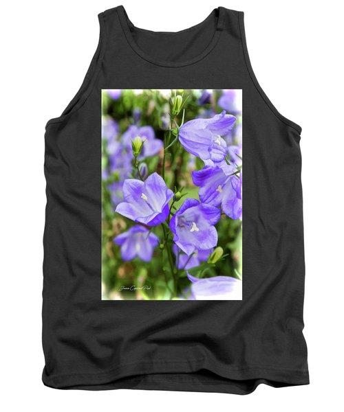 Purple Bell Flowers Tank Top by Joann Copeland-Paul