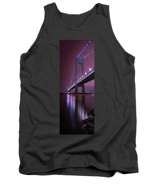 Tank Top featuring the photograph Purple Bridge by Edgars Erglis