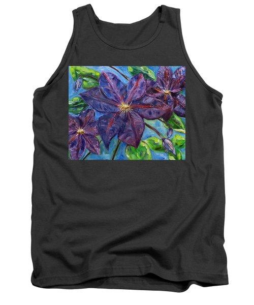 Purple Clematis Tank Top