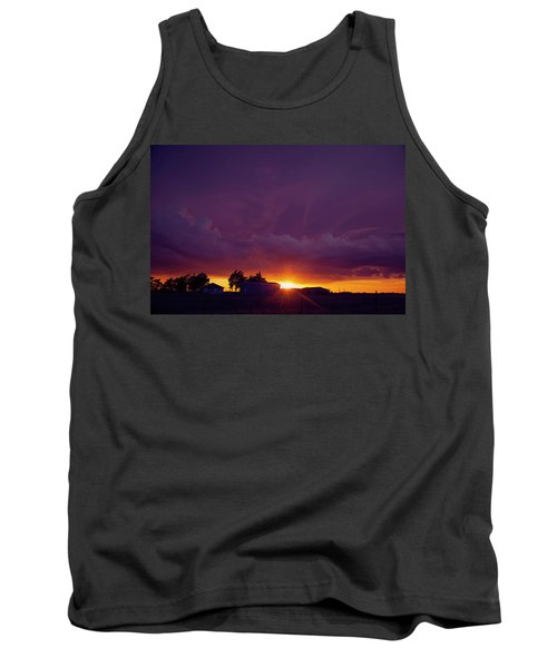 Tank Top featuring the photograph Purple Clouds by Toni Hopper