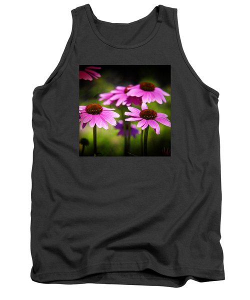 Purple Coneflowers Tank Top by Milena Ilieva