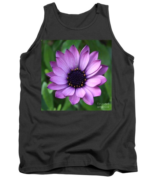 Purple Daisy Square Tank Top