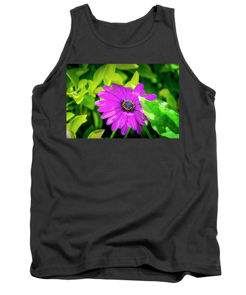 Purple Flower Tank Top