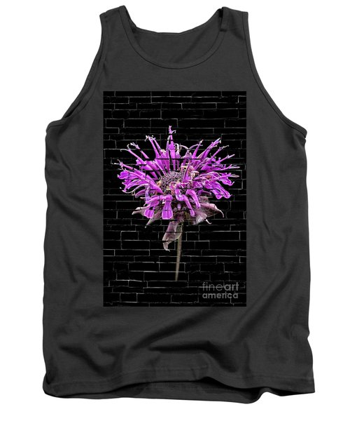 Purple Flower Under Bricks Tank Top