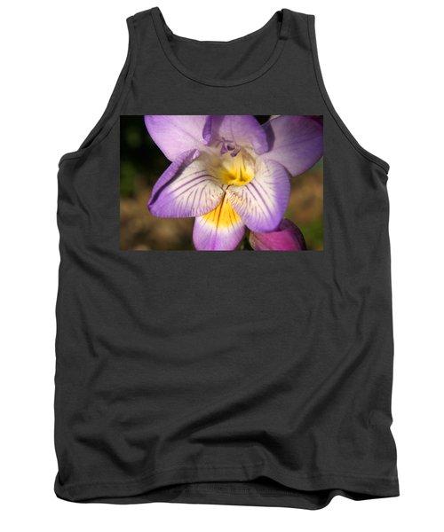 Purple Fresia Flower Tank Top by Ralph A  Ledergerber-Photography