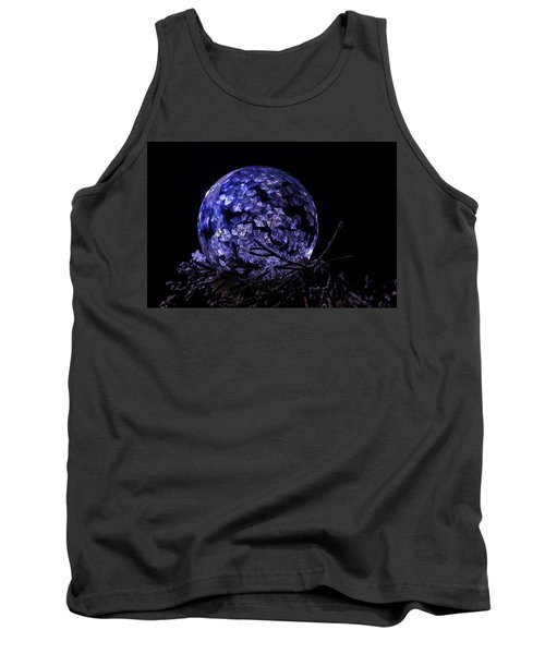 Purple Frozen Bubble Art Tank Top