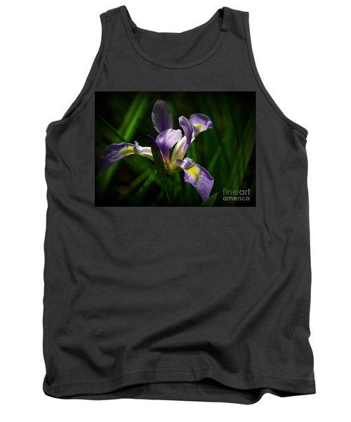 Purple Iris Tank Top by Lisa L Silva