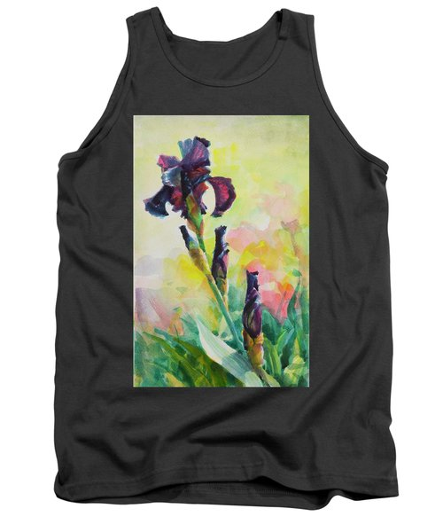 Purple Iris Tank Top