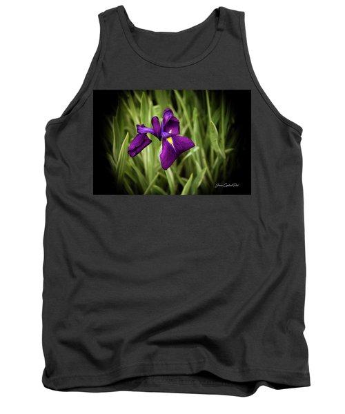 Tank Top featuring the photograph Purple Japanese Iris by Joann Copeland-Paul