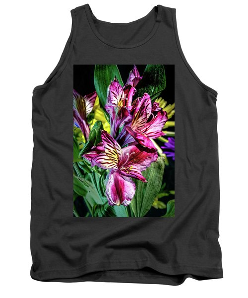 Purple Lily Tank Top by Mark Dunton