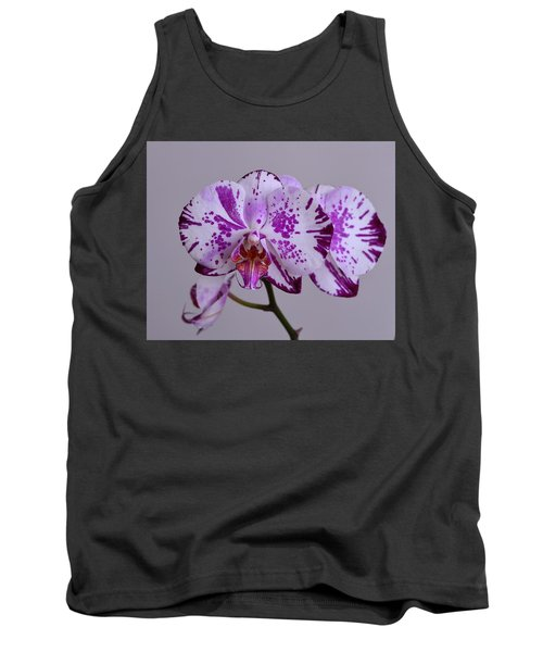 Purple Moth Orchid Tank Top by Kathy Eickenberg